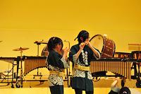 元気な和太鼓とソーラン節の演奏