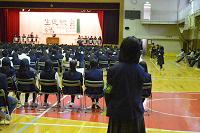 会場を管理する代議員会執行部生徒
